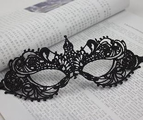 Damen Haarschmuck Elegant Janecrafts Maskerade Maske Cosplay Costume Holloween Kugeln Fancy Mask-Spitze-Motiv 4 (Holloween Erwachsene Kostüme Party)