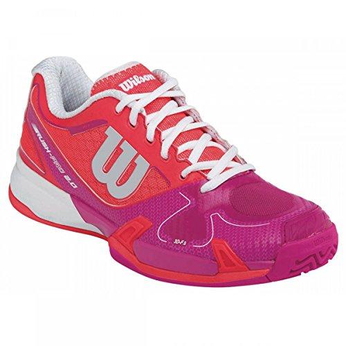 Wilson Unisex-Erwachsene Rush Pro 2.0 W Tennisschuhe Rojo / Rosa / Blanco