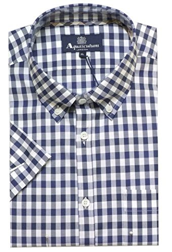 aquascutum-colore-blu-a-scacchi-da-uomo-a-maniche-corte-maglia-harrowby-011557012