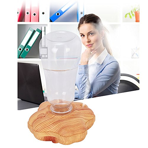 Mini humidificador Atomizador Humidificador de Aire Hogar Mudo Dormitorio Mujeres Embarazadas Bebé Gran Capacidad Inteligente más Agua Niebla (Marrón)