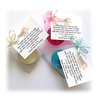 10 x baby shower scented candle