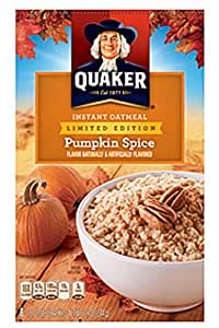 Quaker Pumpkin Spice Instant Oatmeal ~ Limited Edition 8 Count Box - 1 Box by The Quaker Oats Company