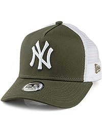 55c7cd1791f78 A NEW ERA Gorra Trucker Infantil A-Frame York Yankees Verde Oliva