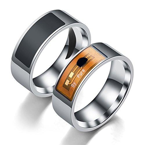 yeshi Fashion Finger Ring NFC Smart Magic Edelstahl Tragbar für Apple, Samsung, Huawei, Xiaomi