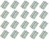 "10 Pairs of Door Hinge 3"" 75mm Ball Bearing Hinges Polished Chrome Suit Internal Doors Pair (10)"