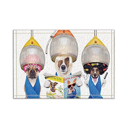 nymb Lady perros hacer la peluquería con revista de baño Rugs, antideslizante...