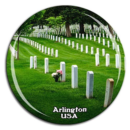 Weekino Arlington National Cemetery Amerika USA Kühlschrankmagnet 3D Kristallglas Tourist City Travel Souvenir Collection Geschenk Stark Kühlschrank Aufkleber Arlington China