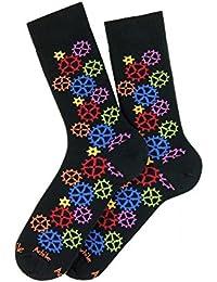 Chaussettes motif Engrenages coton