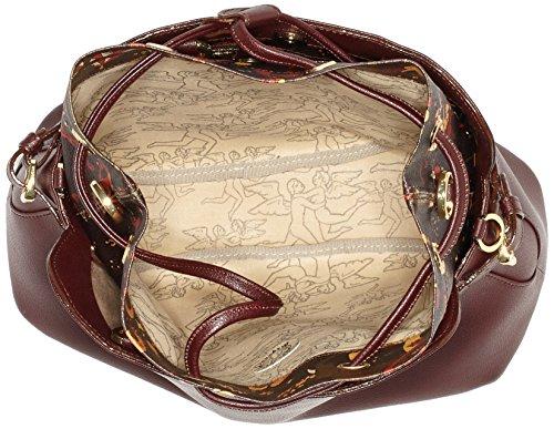 piero guidi 216371082, Borsa a Tracolla Donna, 33 x 23 x 16 cm (W x H x L) Marrone (Marrone Scuro)
