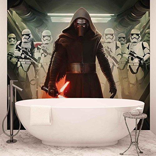 Preisvergleich Produktbild Star Wars Erwachen Macht Kylo Ren - Wallsticker Warehouse - Fototapete - Tapete - Fotomural - Mural Wandbild - (2740WM) - XXL - 312cm x 219cm - VLIES (EasyInstall) - 3 Pieces