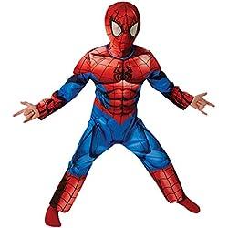 Spider-Man Deluxe Classic pasado - Traje de Niño - Grande - 128 cm - Edad 7-8