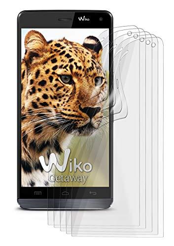 5X Wiko Getaway | Schutzfolie Matt Bildschirm Schutz [Anti-Reflex] Screen Protector Fingerprint Handy-Folie Matte Bildschirmschutz-Folie für Wiko Getaway Bildschirmfolie