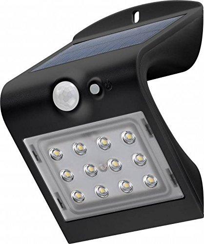 Goobay LED Solar-Wandleuchte mit Bewegungsmelder, Glas, 1.5 W, Schwarz, 1,5 Watt