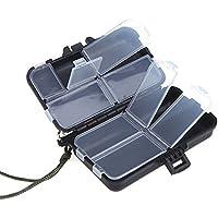sungpunet Mini 9compartimentos señuelos de pesca cuchara ganchos cebos gancho Tackle caja de almacenamiento de plástico caso