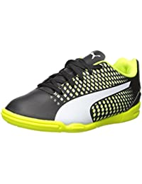 PUMA Unisex-Kids Adreno Iii, Puma Black-Puma White-Safety Yellow, 11 M US Little Kid