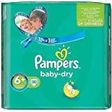 Pampers Baby Taille Sèche 6 + (Extra Large De + ) Pack Essentiel Des Couches 30