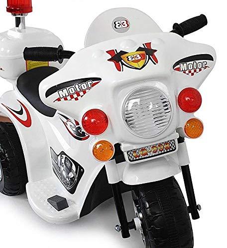 elektro chopper Kaiser-Handel.de Kinder Elektro Motorrad Akku American Police Harley Chopper Cross Bike Weiss 6V