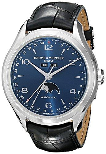 baume-et-mercier-alligator-moonphase-mercier-clifton-baume-zle-schwarz-blau-wahlschalter-mens-und