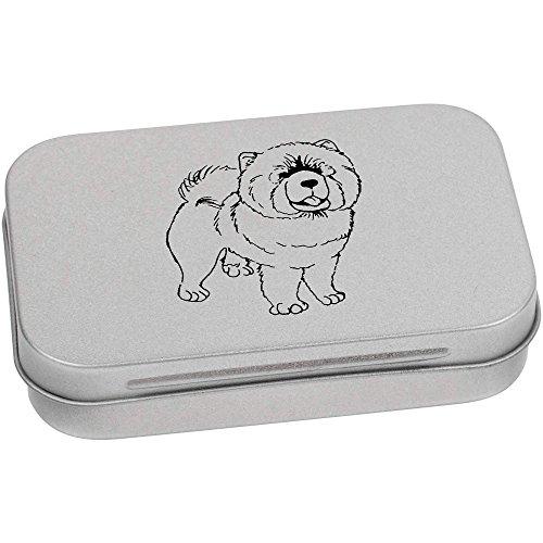 Hund Chow-chow Hund Essen (95mm x 60mm 'Chow Chow Hund' Blechdose / Aufbewahrungsbox (TT00070221))