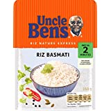 UNCLE BEN'S Riz Basmati - Express 2 min au micro-onde ou à la poêle - 250 g - Pack de 12