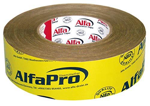 2x Einseitig aggressiv klebendes Papierklebeband Spezialpapierband imprägniertes Spezialpapier (2, 50 mm x 25 m)