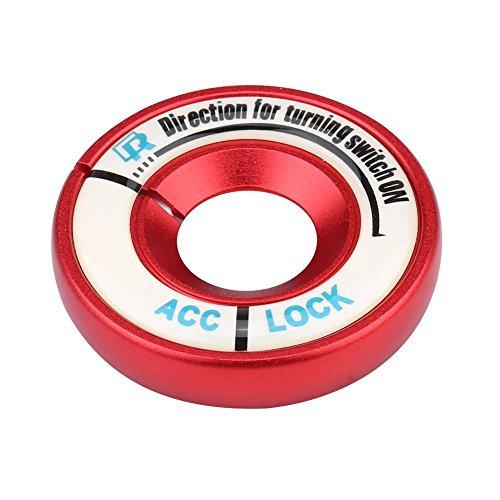 Licht Trim-ring (Zündschlossabdeckung, Car Luminous Ignition Switch Ring Kreis Schlüssellochabdeckung Trim (red))