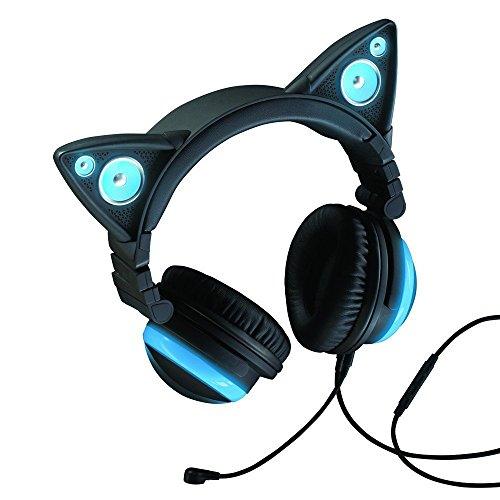 Axent tragen-Katze Ohr Kopfhörer mit Lautsprecher Brookstone-ear-phones