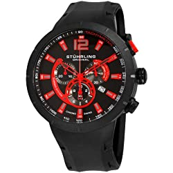 Stuhrling Original Men's Sportsman Phoenix Grand Swiss Quartz Chrono Date Black Watch - 224A.335664