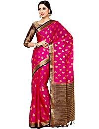 Mimosa By Kupinda Women's Crepe Saree Kanjivaram Style (Latest Designer Sarees /Party Wear Sarees /New Collection...