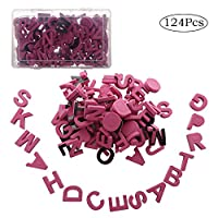 happyshop18 Magnetic Letters Kit 124pcs Foam Alphabet Letters Magnets for Refrigerator Educational Toy Set for Kid Learning Spelling