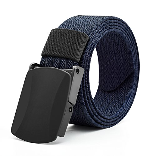 Gucci Canvas-gürtel (VEASTI Nylon Herren Guertel Sportarten Wasserdichte Gürtel Outdoor Military Stil Verstellbare Gurtband YKK Schnalle 130cm (Navy 130cm))