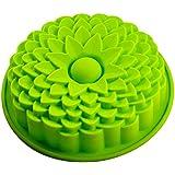 NO:1 1 Stück schöne Blume Form Silikon Kuchen Schimmel Backformen Brotbackformen, Grün
