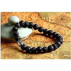 Distinct® Piedra natural del grano de Buda brazaletes de las pulseras