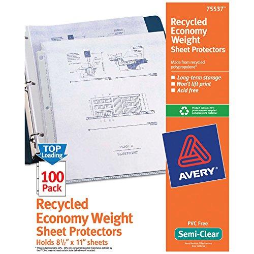 Loading Recycling Polypropylen Blatt-Protektoren, 100/Box (75537) ()
