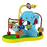 Circuit de Motricité en Bios Jouet de Éléphant Animal Boulier Bebe Labyrinthe Boule Jeu D'éveil pour Garçon Fille