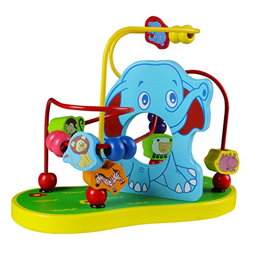 Alrededor Juguetes de Madera Elefante Animal Maze Montaña Rusa Centros de Actividades para Niños sobre 3 Años