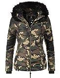 Marikoo Damen Winter Jacke Steppjacke Mamba (vegan hergestellt) Camouflage Gr. M