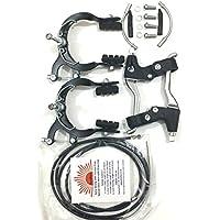 eRadius Set completo para bicicletas de montaña y BMX, incluye frenos de pinza, cables y manetas de freno