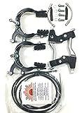 eRadius Felgenbremse, komplettes Set, mit Kabeln und Hebeln, Legierung, geeignet für BMX und Mountainbike