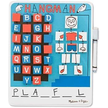 Melissa & Doug Flip to Win Travel Hangman Game - White Board, Dry-Erase Marker
