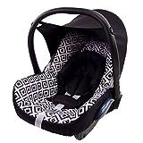 BAMBINIWELT Ersatzbezug für Maxi-Cosi CabrioFix 6-tlg, Bezug für Babyschale, Komplett-Set SCHWARZ WEISS KAROS *NEU*