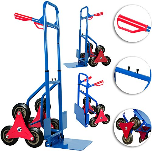 Deuba Treppenkarre klappbar bis 200kg Hartgummireifen Haltegriffe Sackkarre Transportkarre Stapelkarre Wagen