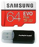 64GB Samsung Evo Plus Micro SD XC Class 10UHS-164G Speicherkarte für Samsung Galaxy S8, S8+, S7Edge, S5Active, S4, S3, S Tab Handy mit Alles aber Stromboli Kartenleser (mb-mc64da/AM)