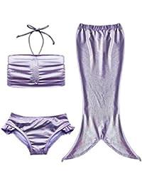 Newland para niña de niños de sirena cola 3pcs Bañador traje de baño Swimwear