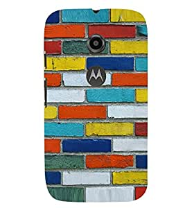 PRINTVISA Abstract Brick Pattern Case Cover for Motorola Moto E2
