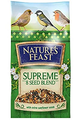 Nature's Feast Supreme 8 Seed Blend Wild Bird Food, 5 kg from Westlands Horticulture Ltd