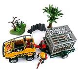 playmobil ® - 4175 - Amphibienfahrzeug mit Deinonychus - DINO Transport mit Auto, Anhänger und Gitterkäfig