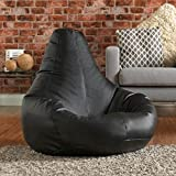#2: Aart Leather Recliner Bean Bag Cover with Beans XXXL - Black