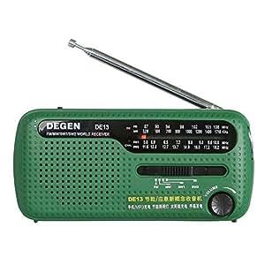 Degen DE13 Radio solaire Crank FM AM SW Récepteur Dynamo Radio Energie solaire Avec Mobile P