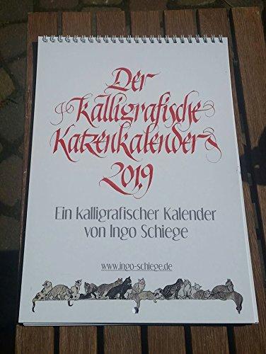 Kalligrafischer Katzenkalender 2019